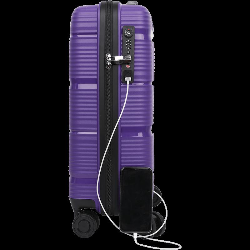 USB charging luggage